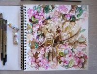 Цветочный слон
