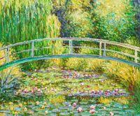 Копия картины Клоде Моне. Белые водяные лилии, 1899 г.