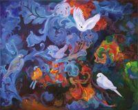 Птицы в ночном саду