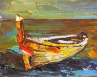 Желтая лодка на берегу N2