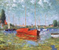 Копия картины. Красные лодки в Аржантее