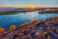 Встречая рассвет на берегу реки