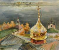 Купола Успенского собора. Великий Устюг