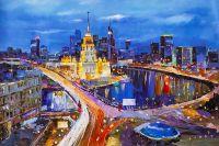 Ночная Москва в движении