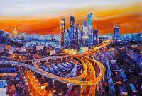 Москва-Сити. Пламенный закат