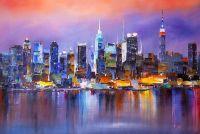 Огни ночного города. Нью-Йорк