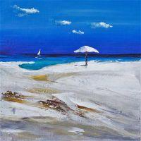 Пляжные истории. Белый зонт N2