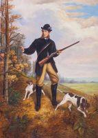Копия картины Дж. Тернера. Охотник с двумя пойнтерами