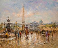 Пейзаж Парижа Антуана Бланшара. Place de la Concorde