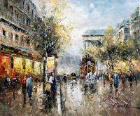 Пейзаж Парижа Антуана Бланшара. Boulevard de La Madeleine