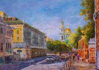 Гуляя по улицам Москвы. Вид на Богоявленский кафедральный собор в Елохове