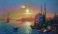 Вид Константинополя при луне.
