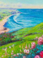 Цветущая долина. Вид на побережье