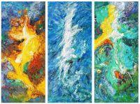 Три стихии. Огонь, вода, земля. Триптих