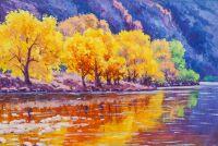 Плывет по реке осень…