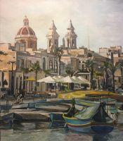 Malta, Marsaxlokk, городской пейзаж, причал