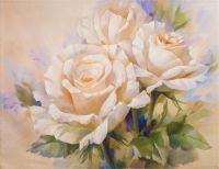 Вольная копия картины Игоря Левашова. Букет нежных роз