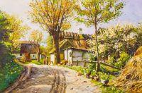 Копия картины Менстеда Петера Мерка. Деревенская дорога