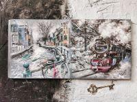 Путешествие в зиму - картина с поездом