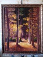 Ночь. Осенняя аллея.