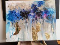 Текстурная картина - Золото и синий