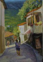 солнце на улицах гурзуфа