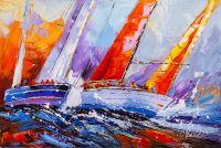 Регата. Разноцветные паруса