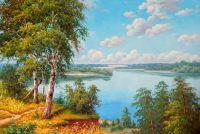 Вид на реку.худ.С.Минаев