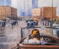 Копия картины Юрия Пименова. Новая Москва, 1937 г