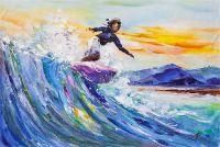 Серфинг. На гребне морской волны