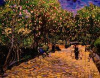 Улица с цветущими каштанами в Арле (коп. с Ван Гога)