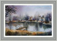 картина Ноябрьское озеро