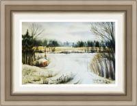 Картина пейзаж Первый снег