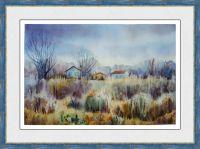 картина пейзаж Осенние травы
