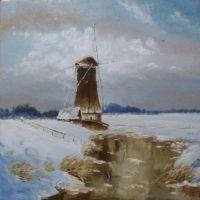 Зима, мельница