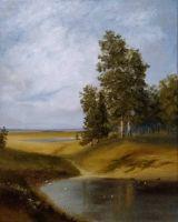 Пейзаж с дубами
