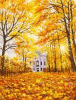 Золотая осень. В Екатерининском парке