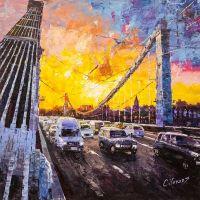 Москва в движении. Вид на Крымский мост