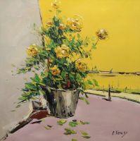 Натюрморт с садовыми розами