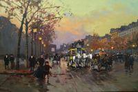 Champs-Elysees. Елисейские поля, копия картины Кортеса Эдуарда Леона