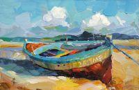 Лодка на песчаном берегу N2