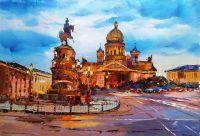Исаакиевская площадь. Вечер
