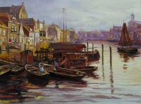 Копия картины Луиса Астона Найта. Старая гавань