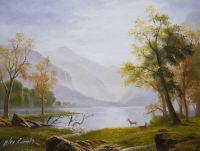 Копия картины Альберта Бирштадта. Долина в Кингс Каньоне