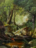 Копия картины Альберта Бирштадта. Белые горы
