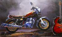 Hard Rock. Мотоцикл и гитара