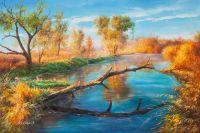 Осенним днем на раскатах Волги