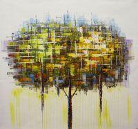 Деревья. Жёлтый и зеленый