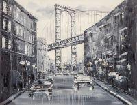 Нью-Йорк. Бруклинский мост. Монохром