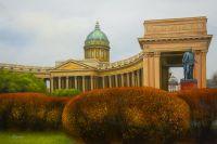 Казанский собор. Осенний день